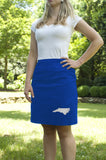 North Carolina Skirt - Royal & White