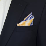 Navy/Orange Gingham