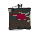 Oklahoma Flask - Camo, Orange & Black