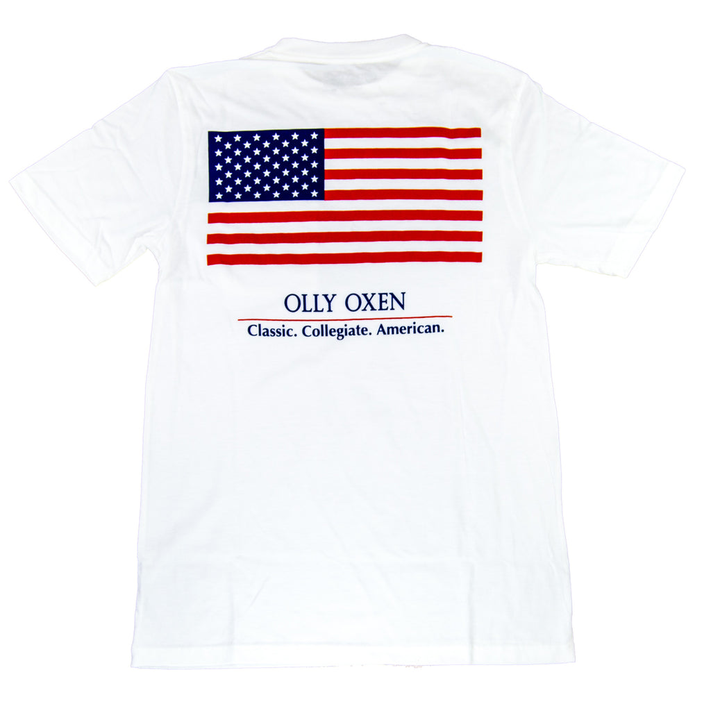 White American Flag T-Shirt