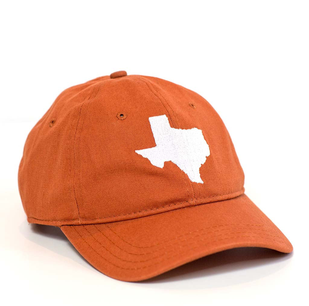 Texas Hat - Burnt Orange & White