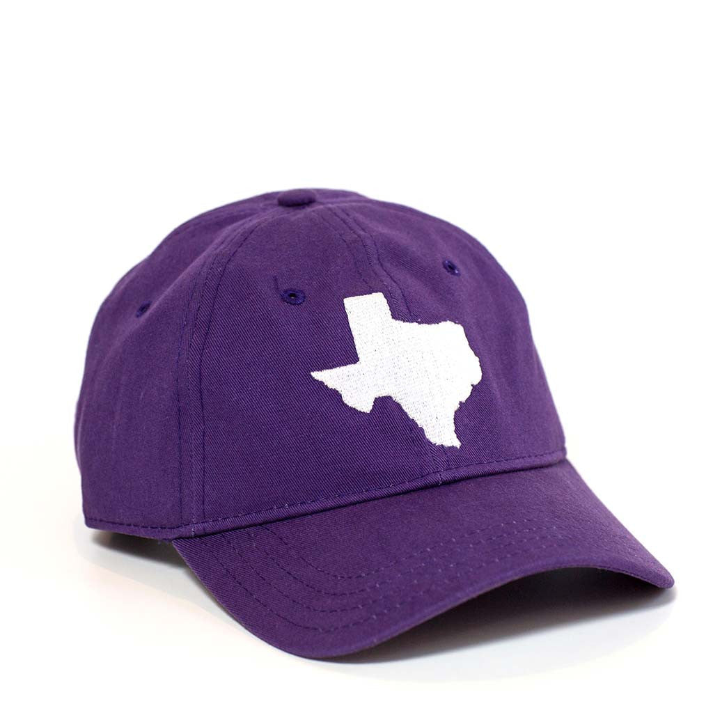 Texas Hat - Purple & White