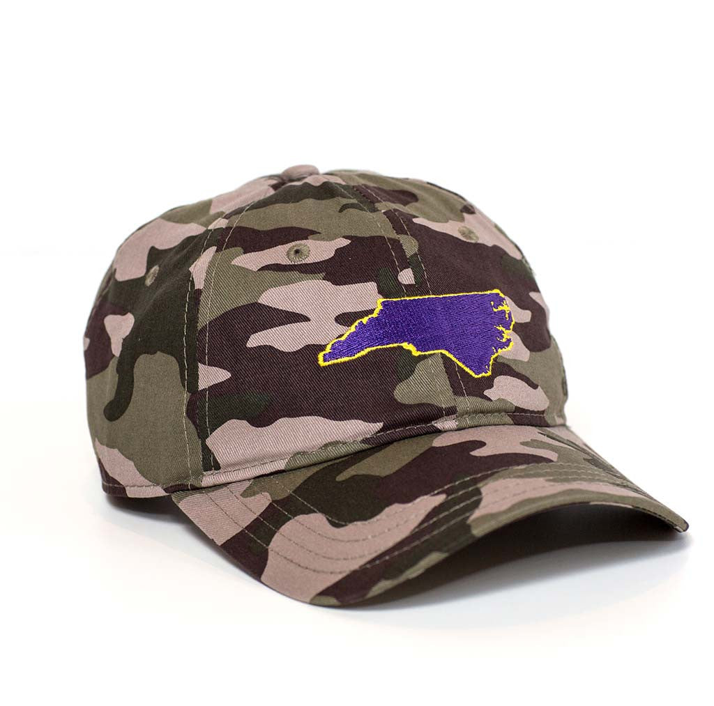 North Carolina Hat - Camo & Purple
