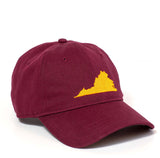 Virginia Hat - Maroon & Orange