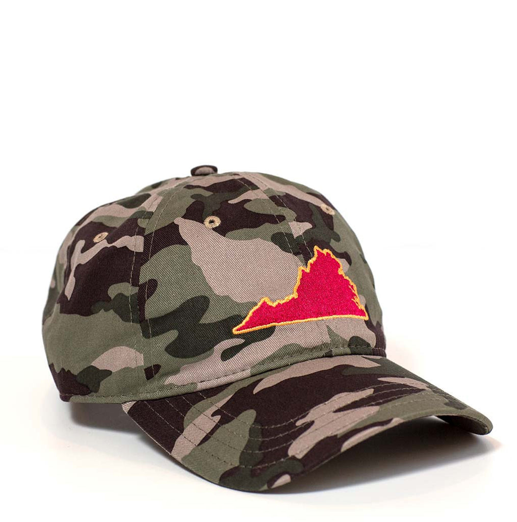 Virginia Hat - Camo & Maroon