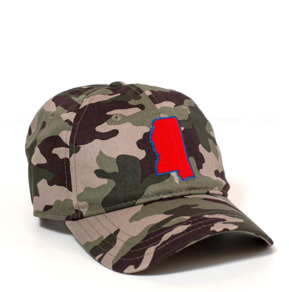 Mississippi Hat - Camo & Red