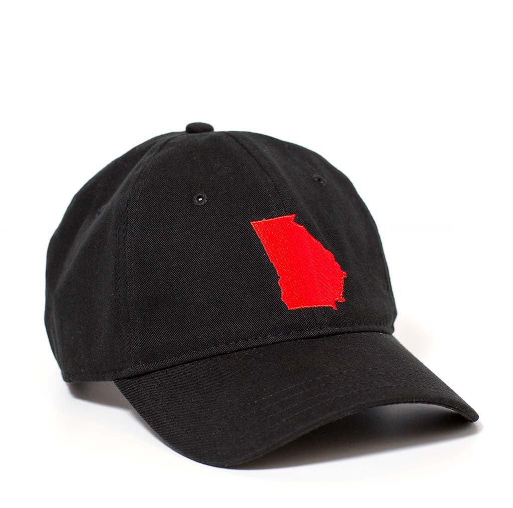 Georgia Hat - Black & Red