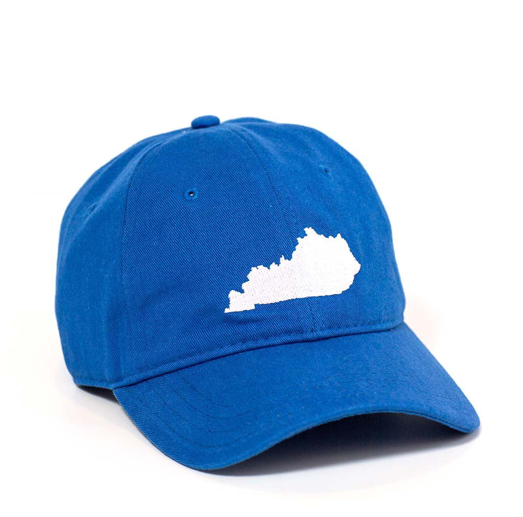 Kentucky Hat - Royal Blue & White