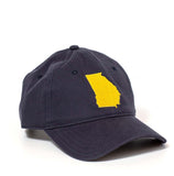 Georgia Hat - Navy & Gold