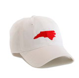 North Carolina Hat - White & Red