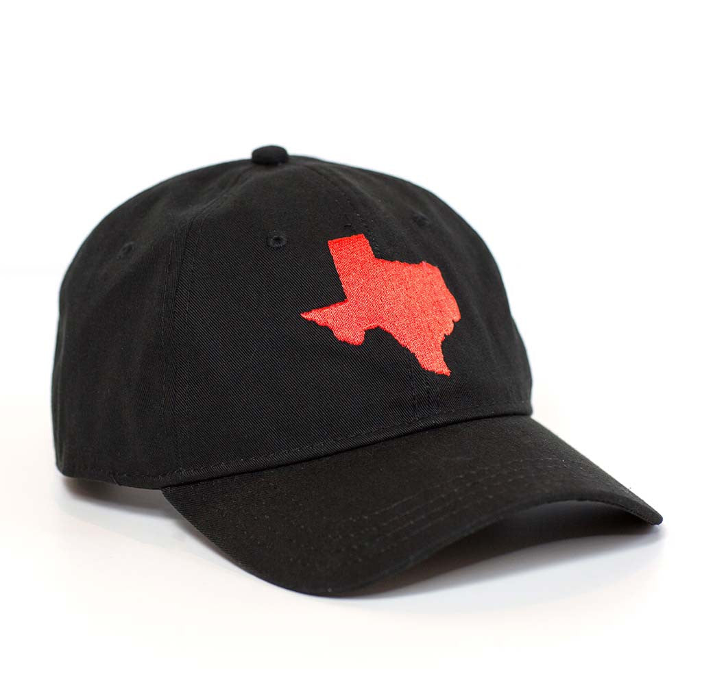 Texas Hat - Black & Red