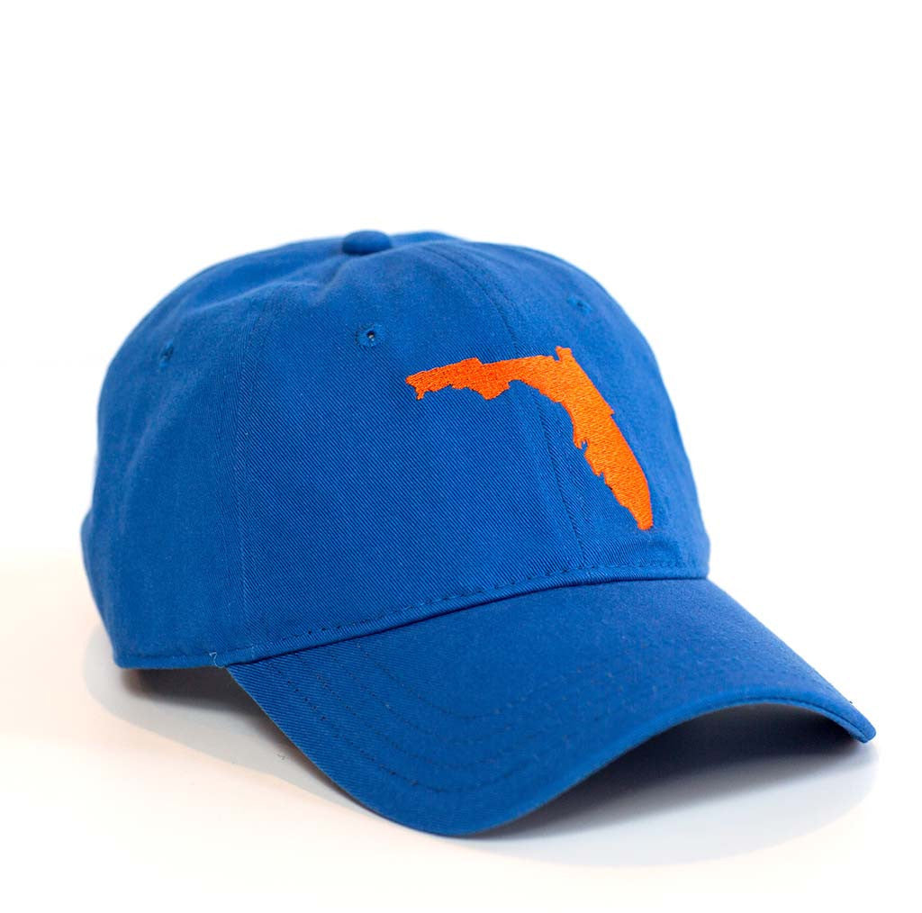 Florida Hat - Royal Blue & Orange
