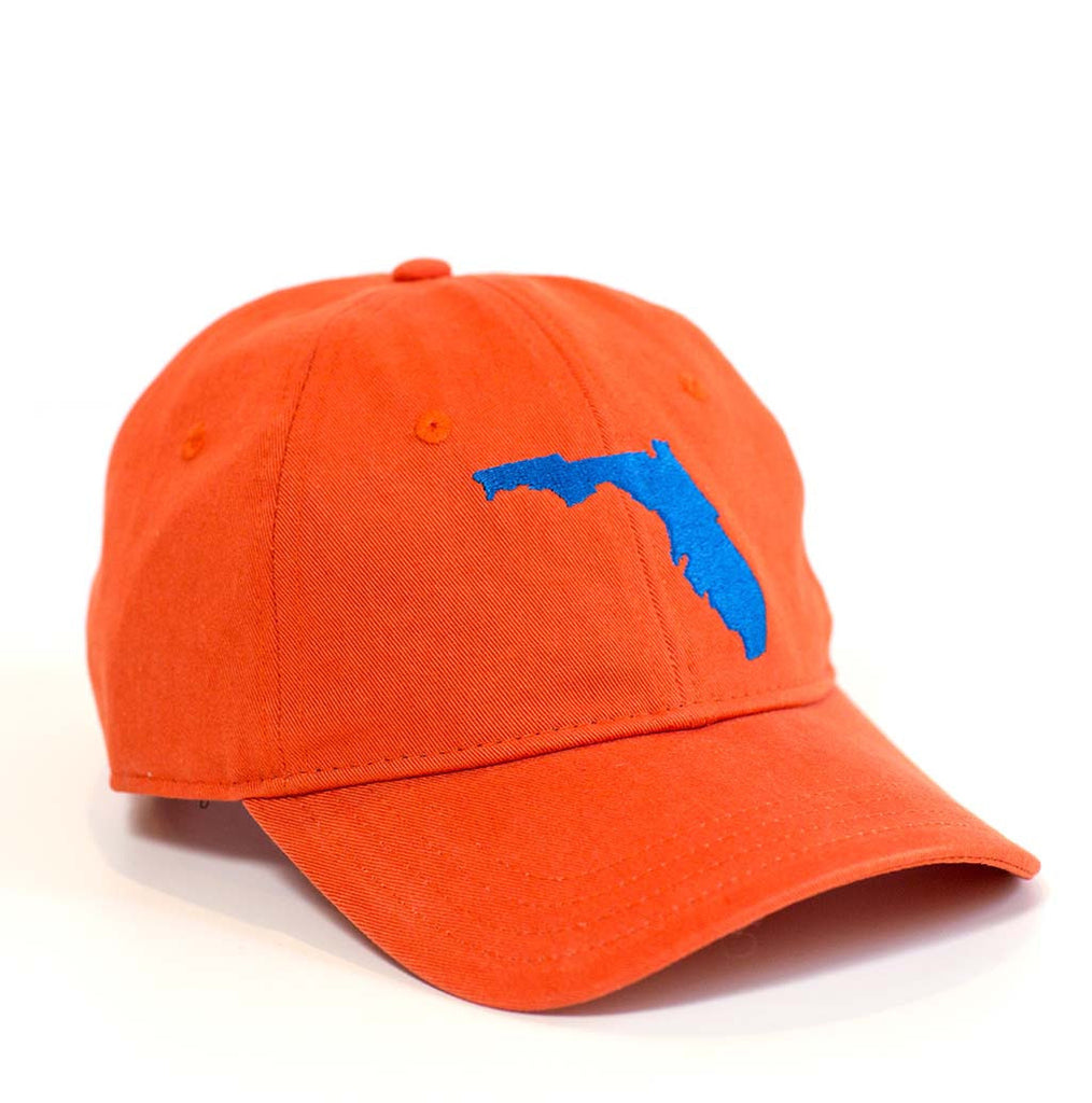 Florida Hat - Orange & Royal Blue