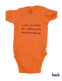 Virginia Onesie - Orange & Maroon