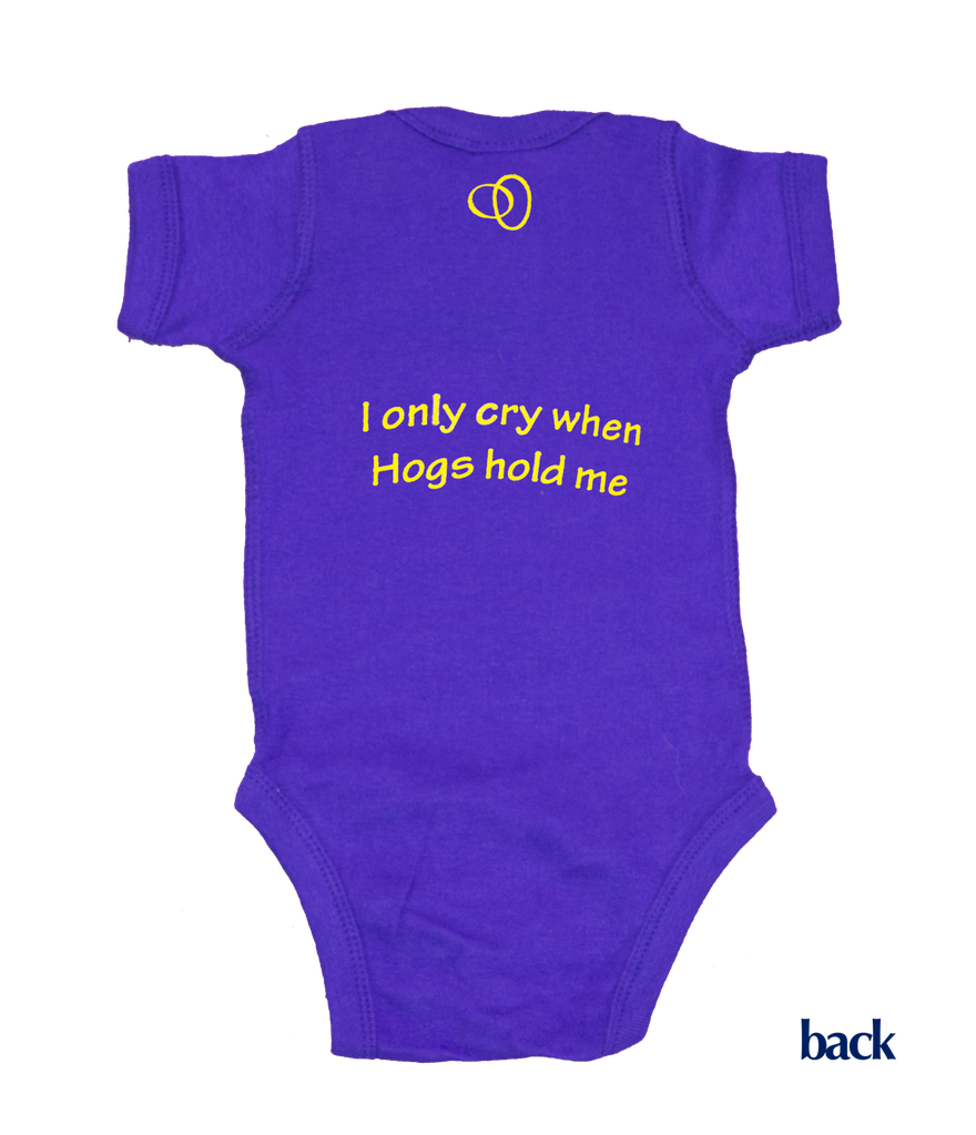 Louisiana Onesie - Purple & Gold