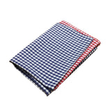 Red & Navy Gingham Pocket Square