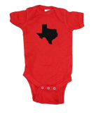 Texas Onesie - Red & Black