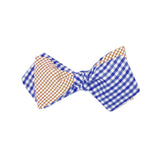 Royal & Orange Windowpane Bow Tie