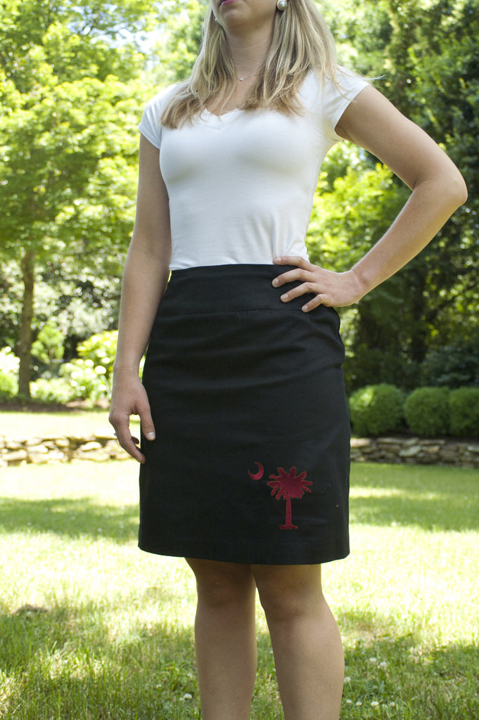 South Carolina Skirt - Black & Garnet