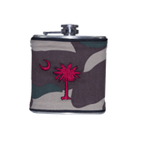 South Carolina Flask - Camo, Garnet & Black
