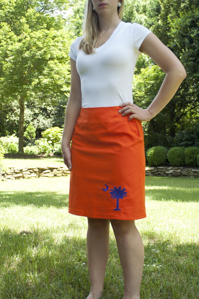 South Carolina Skirt - Orange & Purple