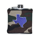 Texas Flask - Camo & Purple