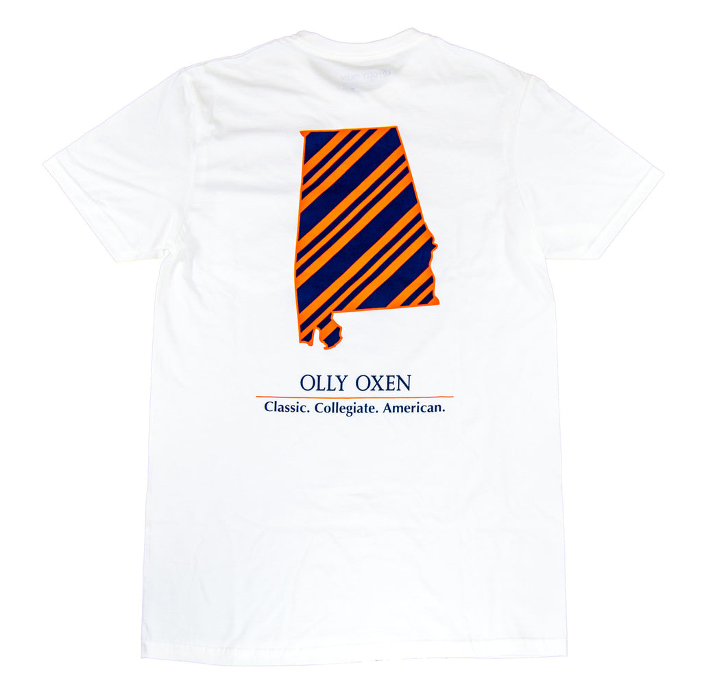 Alabama Repp T-Shirt Navy & Orange