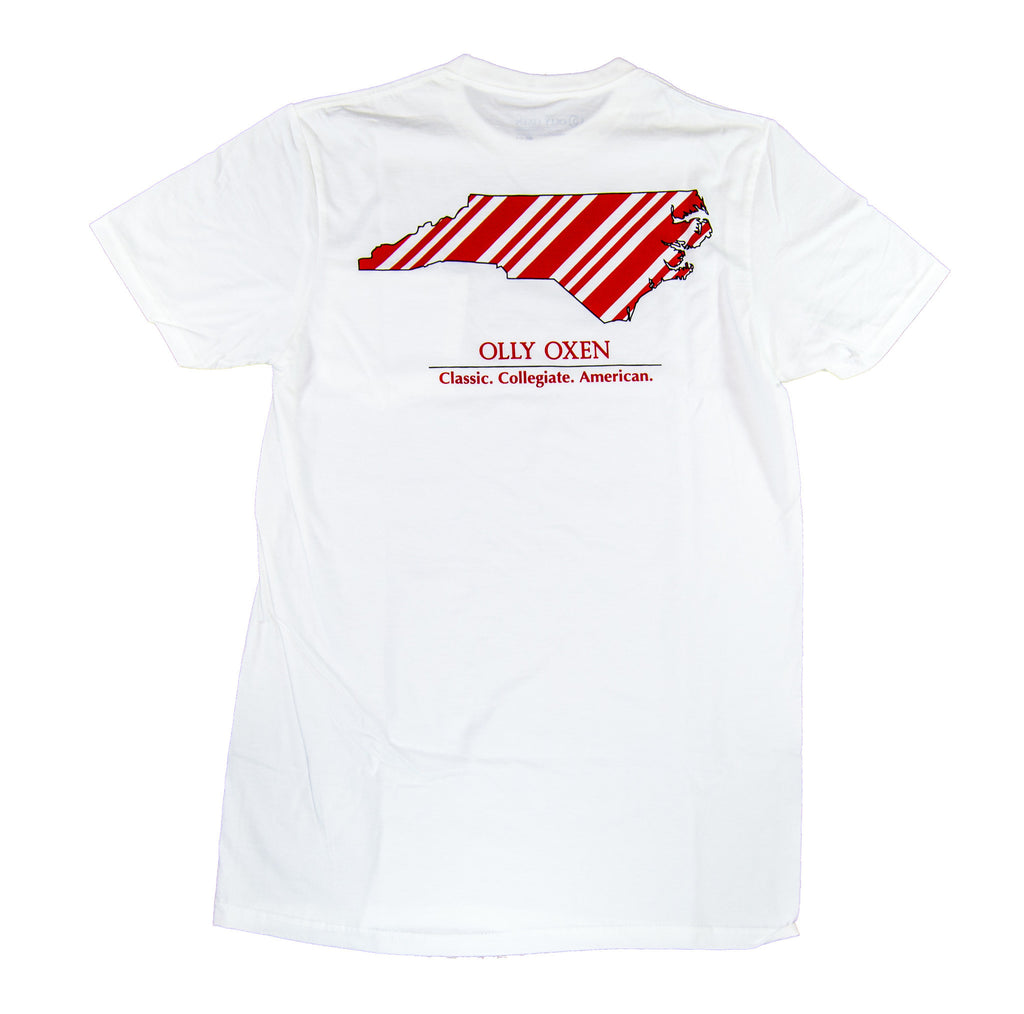 North Carolina Repp T-Shirt Red & White