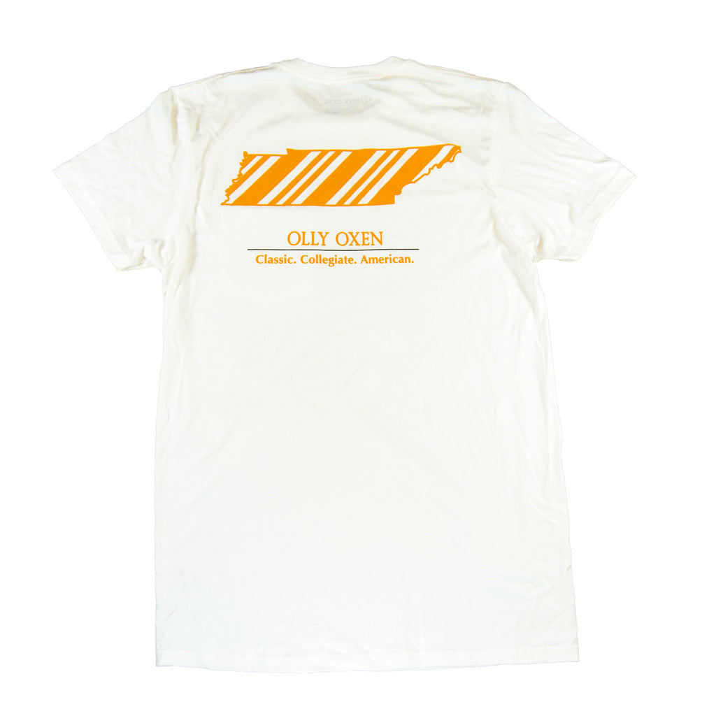Tennessee Repp T-Shirt Orange & White