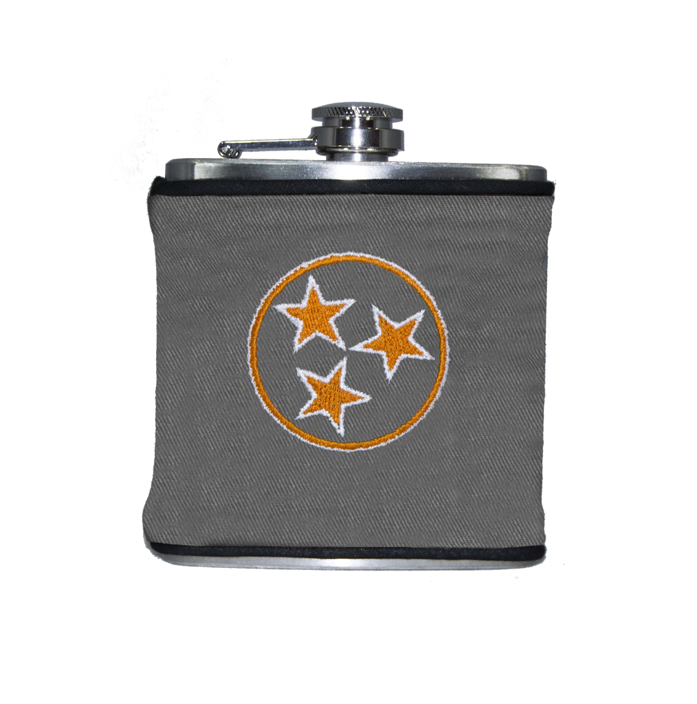 Tennessee Flask - Gray & Orange