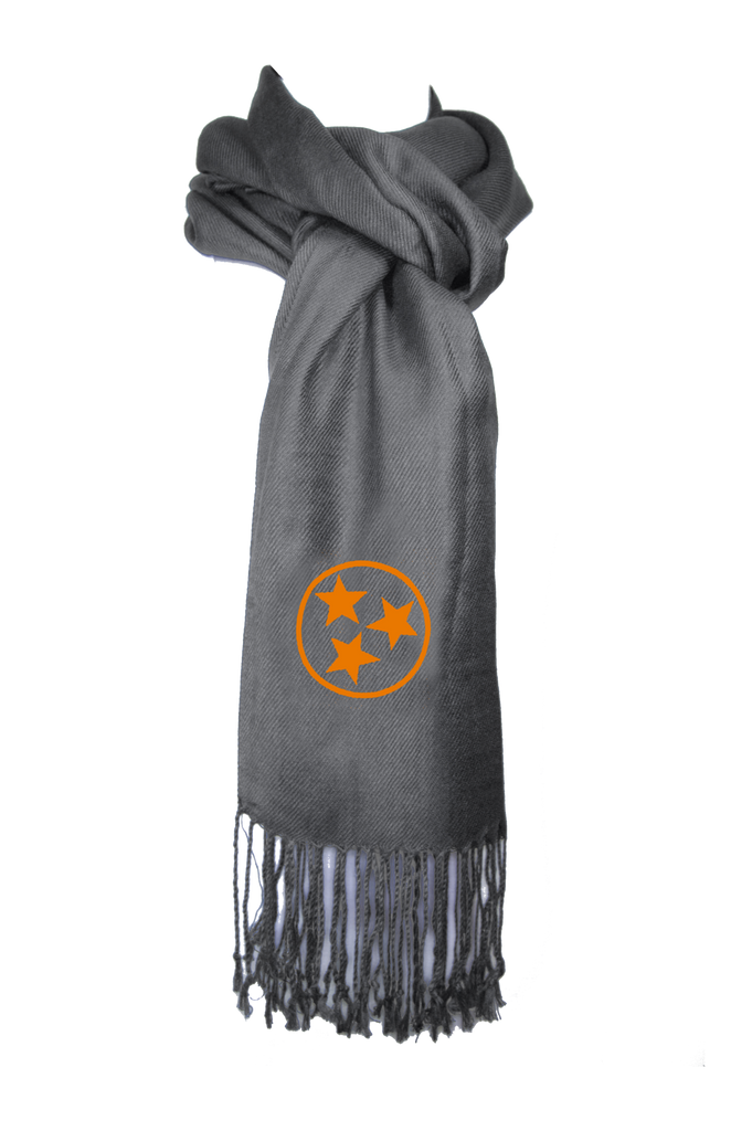 Tennessee Scarf - Gray & Orange