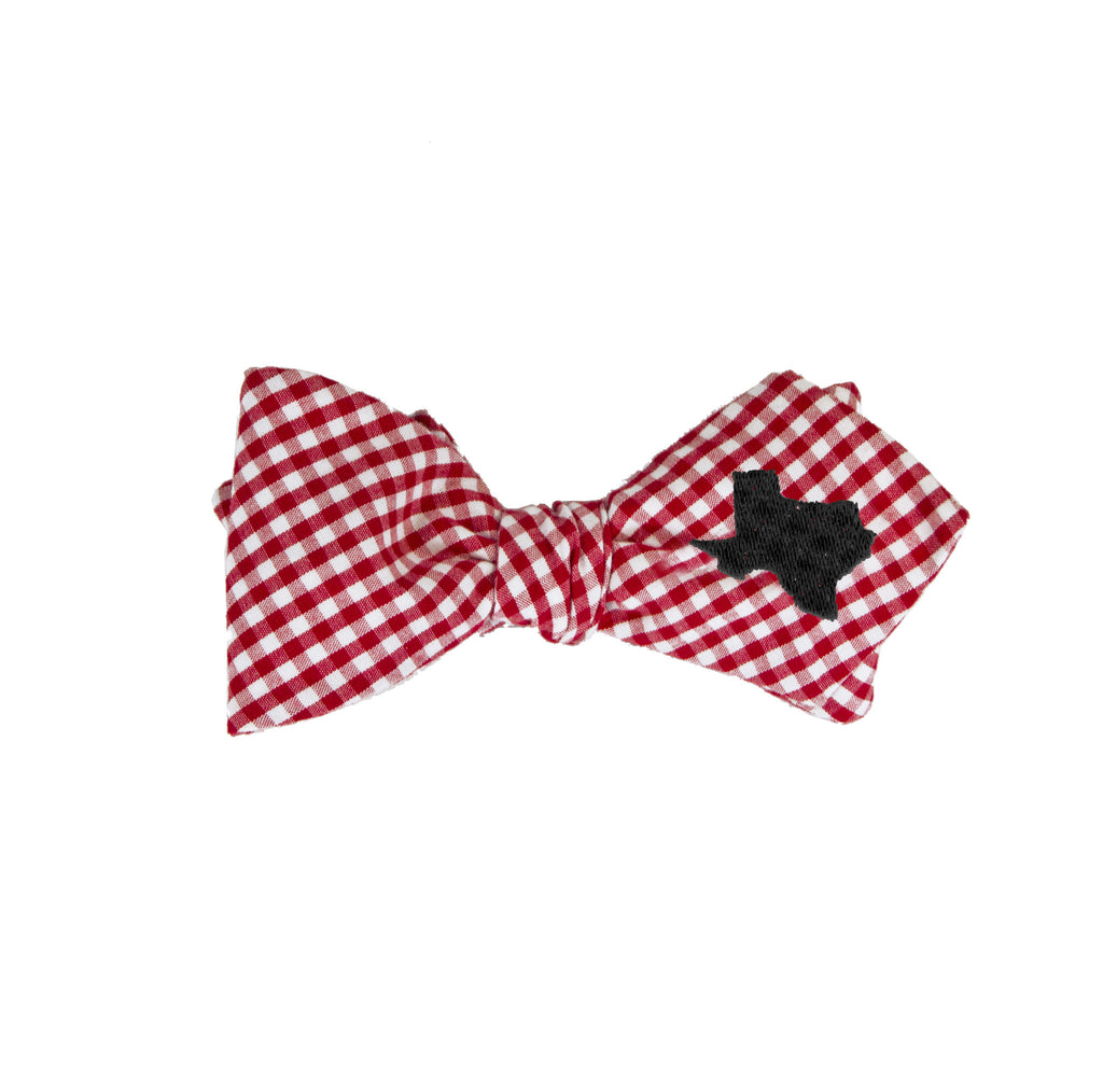 Texas Bow Tie - Red & Black