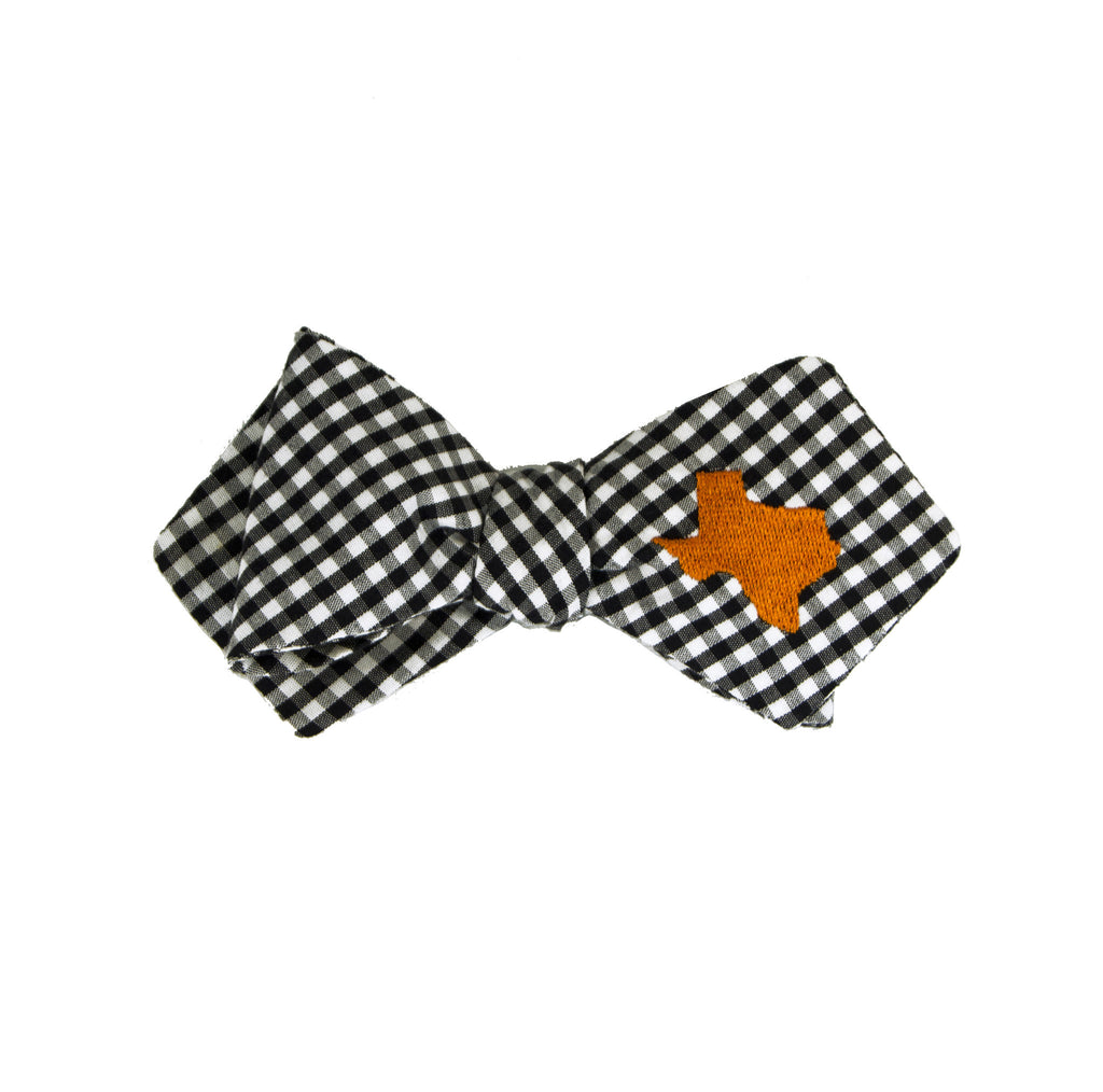 Texas Bow Tie - Black & Burnt Orange