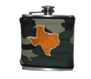 Texas Flask - Camo & Burnt Orange