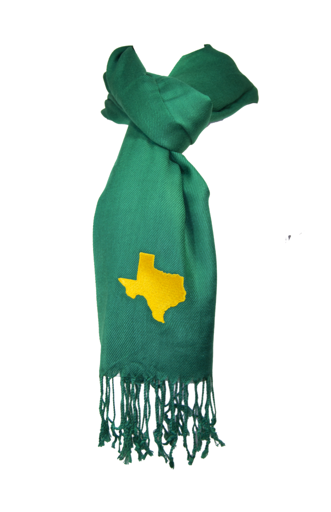Texas Scarf - Green & Gold