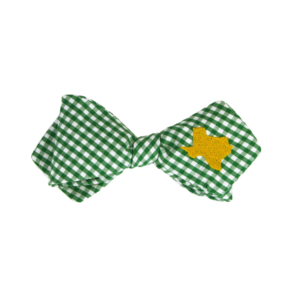 Texas Bow Tie - Green & Gold
