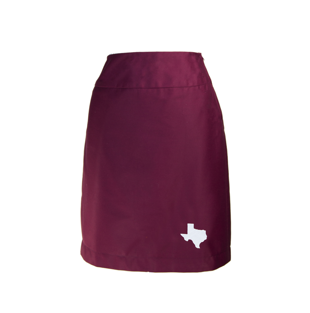 Texas Skirt - Maroon & White