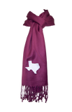 Texas Scarf - Marooon & White