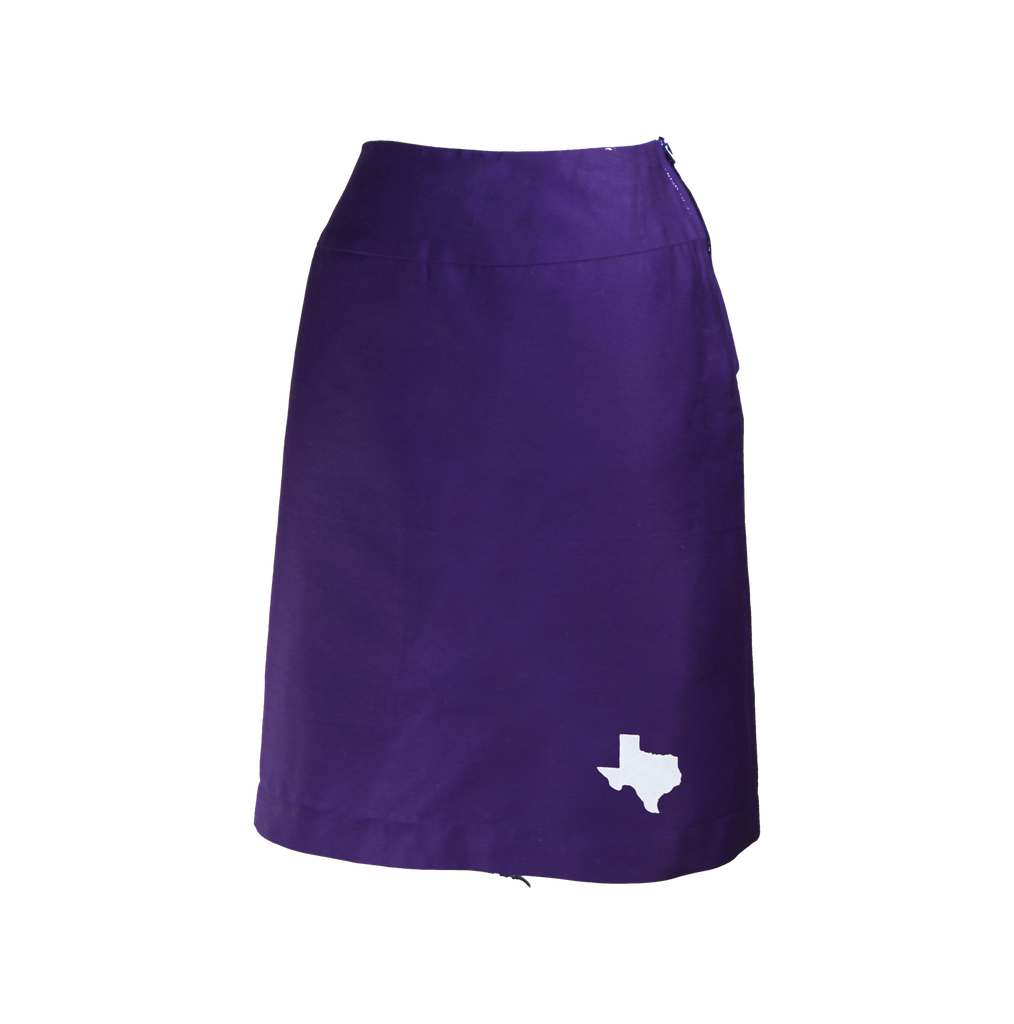 Texas Skirt - Purple & White