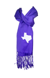 Texas Scarf - Purple & White