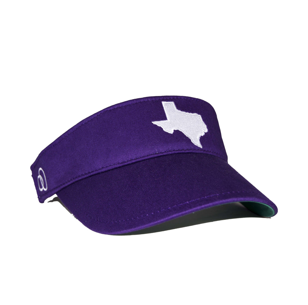 Texas Visor - Purple & White