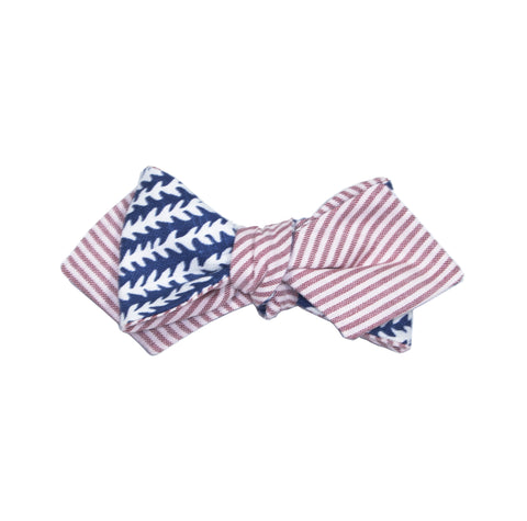 Mississippi Scarf - Red & Navy