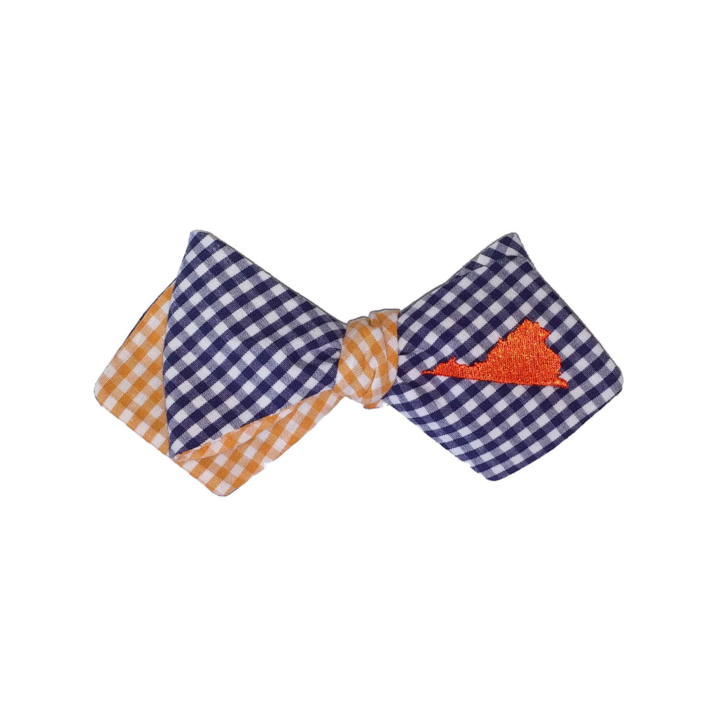 Virginia Bow Tie - Navy & Orange