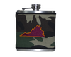 Virginia Flask - Camo & Maroon