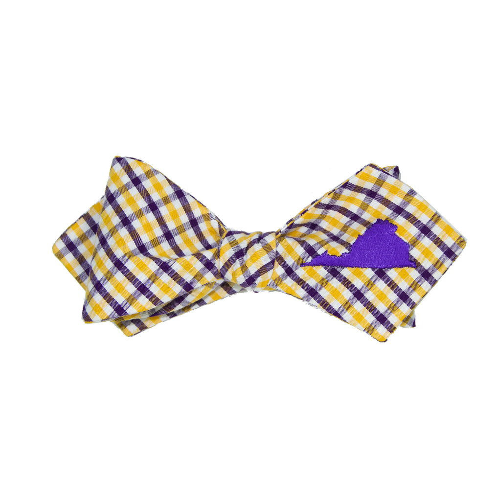 Virginia Bow Tie - Purple & Gold