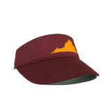Virginia Visor - Maroon & Orange