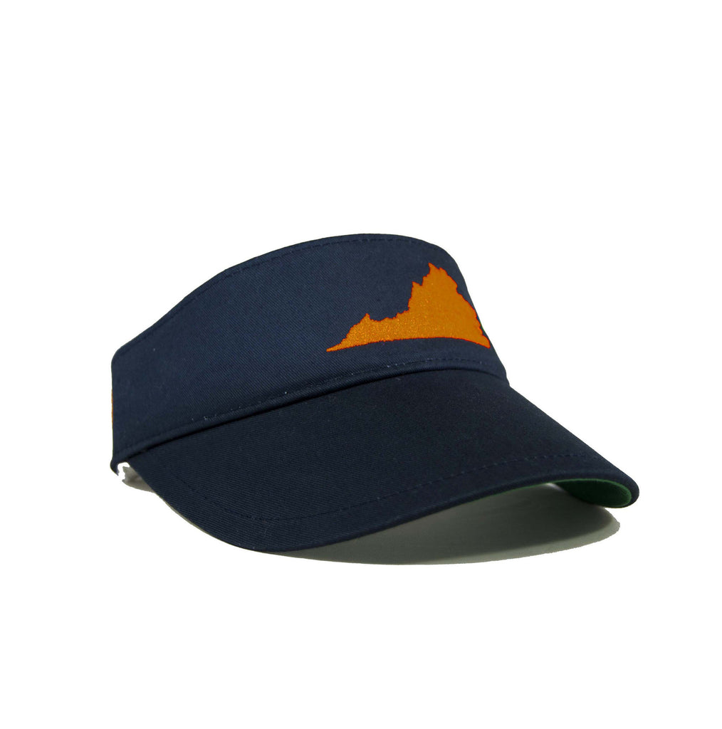 Virginia Visor - Navy & Orange