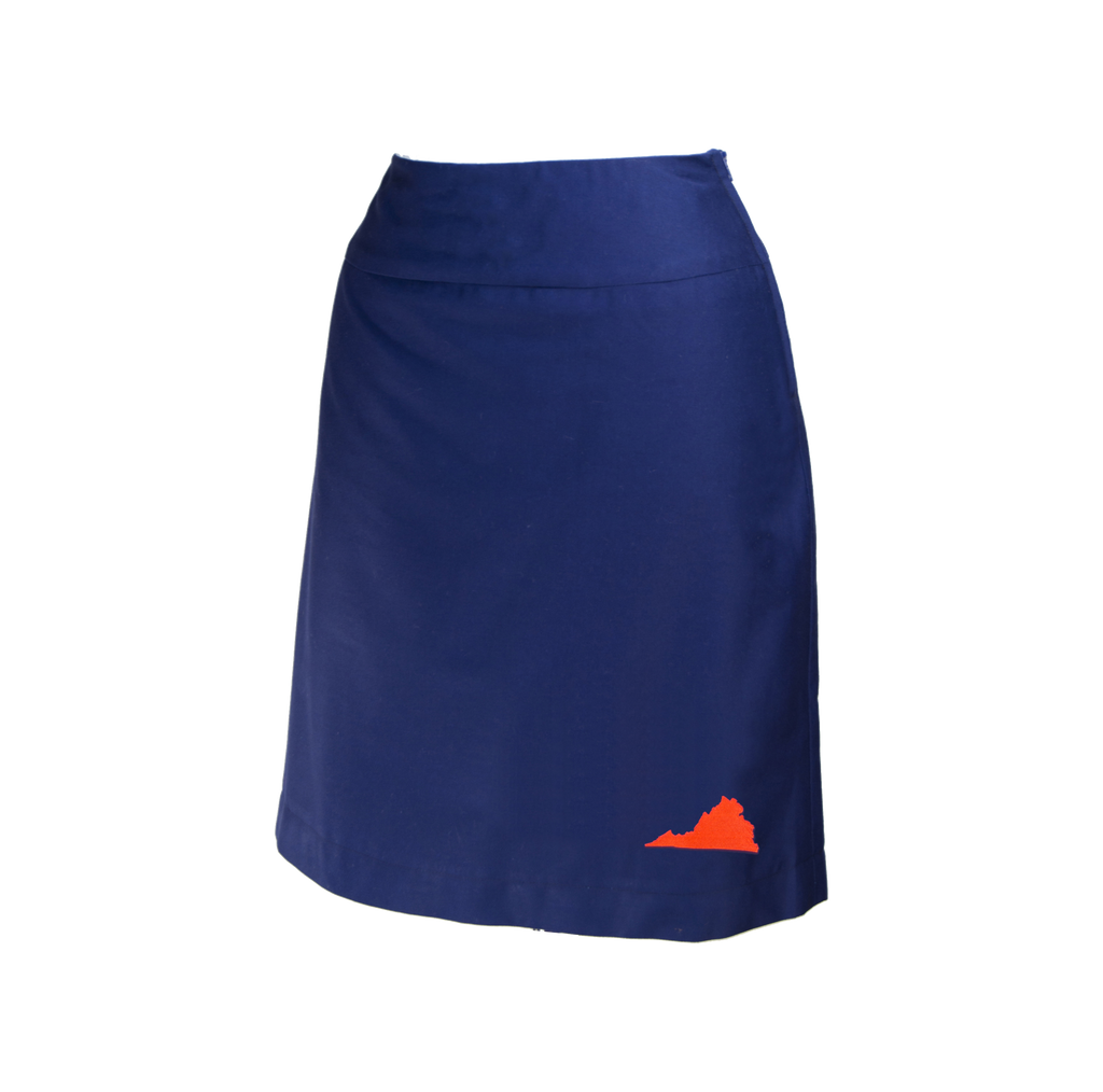 Virginia Skirt - Navy & Orange