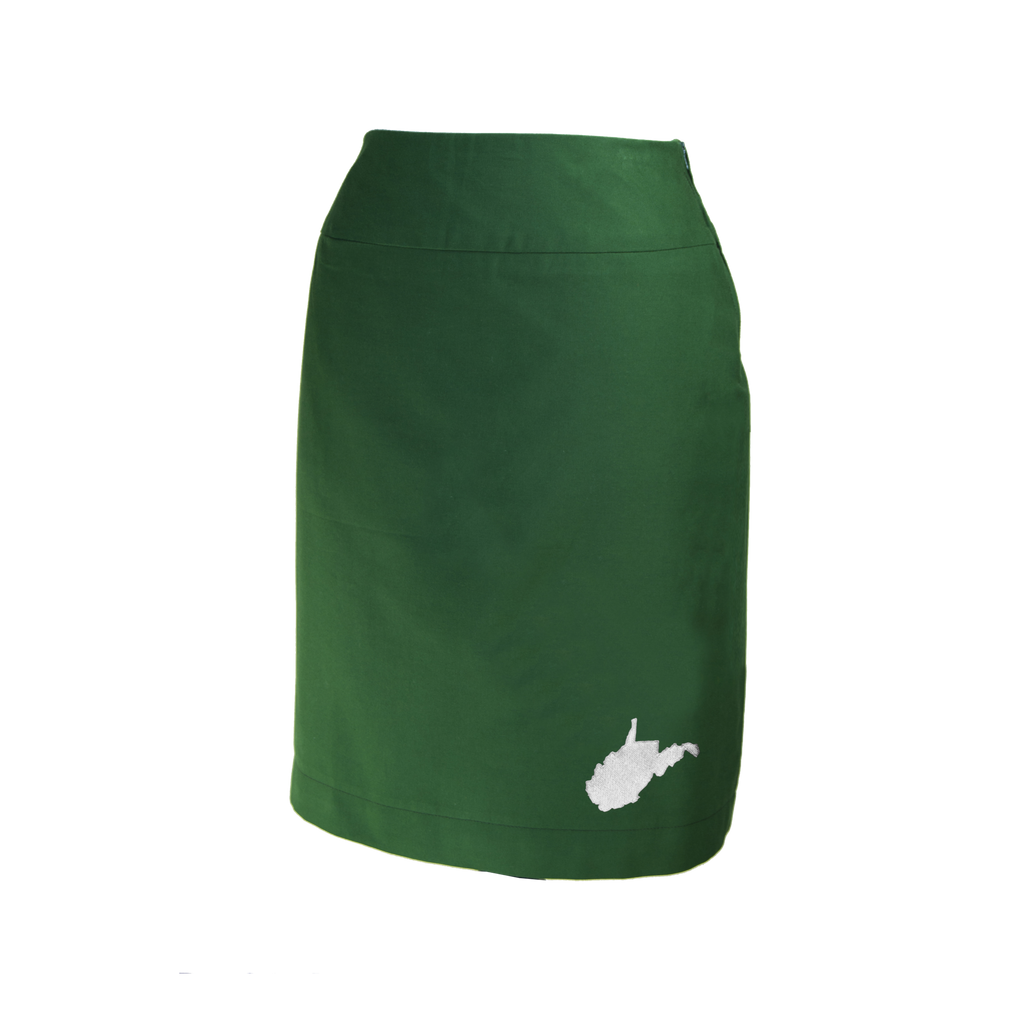 West Virginia Skirt - Green & White
