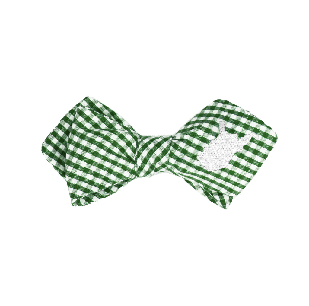 West Virginia Bow Tie - Green & White